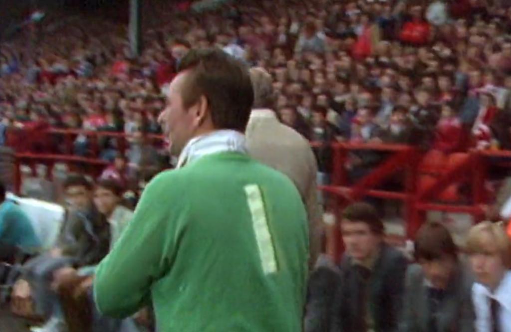 Clough con la maglia da portiere
