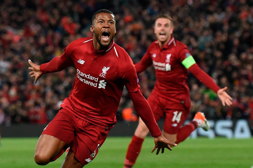 Liverpool barcellona 4-0 Wijnaldum